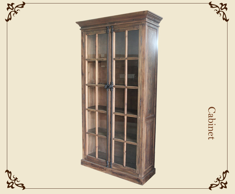 European style furniture wood bookcase