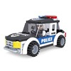 Hot police patrol car diy steering wheel building blocks toys for kids
