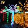 Factory sale outdoor Landscape Palm/coconut Trunk Led Tree Lighting