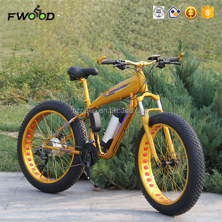 "26"" aluminium alloy 21 speed fat tyre electric beach cruiser bicycle"