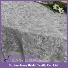 TL036A Wholesales Fashion Jenny Bridal 90 inch round french Lace table cloth factory