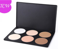 Mineral Waterproof Contour 6 Colors Face Cake Pressed Powder Foundation Palette