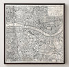 High quality hotel wall decor map artwork framed for guestroom decor or corridor