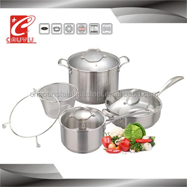 8Pieces Luxury And Classic Stainless Steel Kitchen ware set