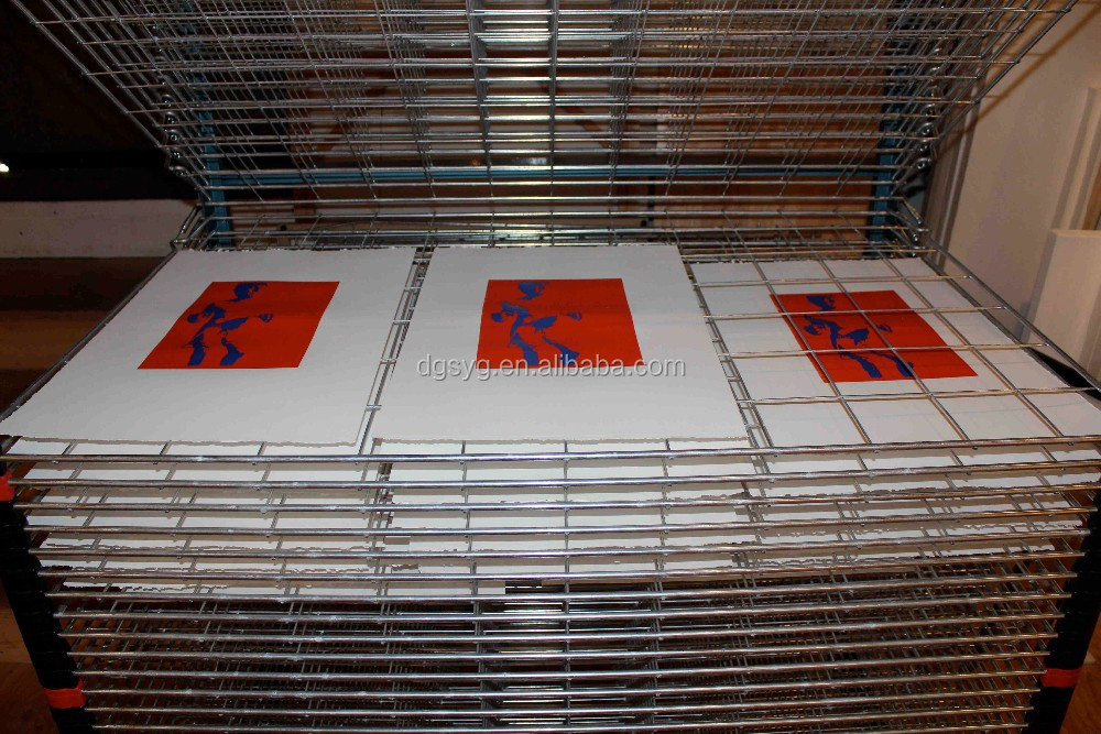Drying rack for silk screen prints