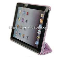 new pink case for ipad with foldable magnetic cover