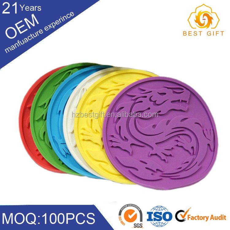 wholesale custom silicone & pvc plastic materials hot pot mat/cup pad make in China