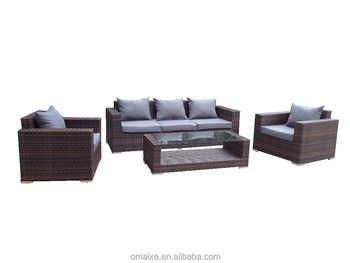 the popular rattan sofa set outdoor aluminium garden furniture
