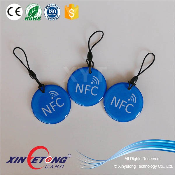 Diameter 45mm RFID Epoxy Tag MF1k Access Key TAG