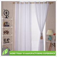 Professional manufacturer Voile Luxury Voile hot foil curtain frill