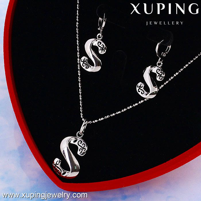 "60767 XUPING letter ""S"" gold plated jeweleries,gold jewelry sets,gold plated jewelry sets"