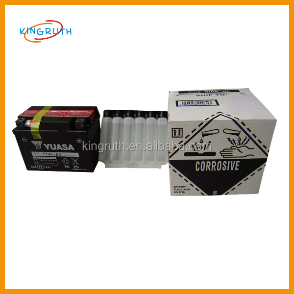 High quality dirt bike 12V YT4L-BS motorcycle yuasa batteries