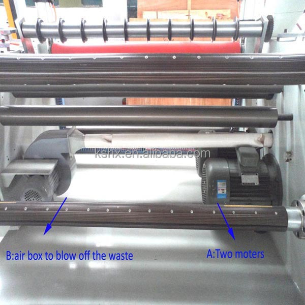1600mm wide material automatic slitting machine with laminating function