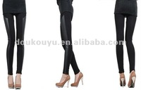 2012 Sexy fashion lady leather elastic pants stretch legging