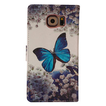High Quality PU Leather Material Mobile Phone Case for Samsung Galaxy s6 two side printed