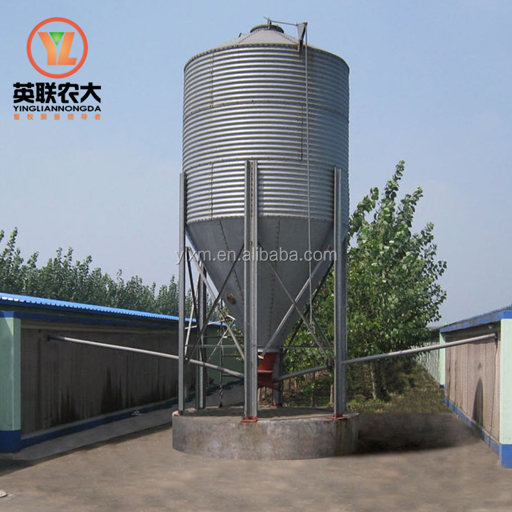 automatic broiler feeding system galvanized poultry feed silo for sale