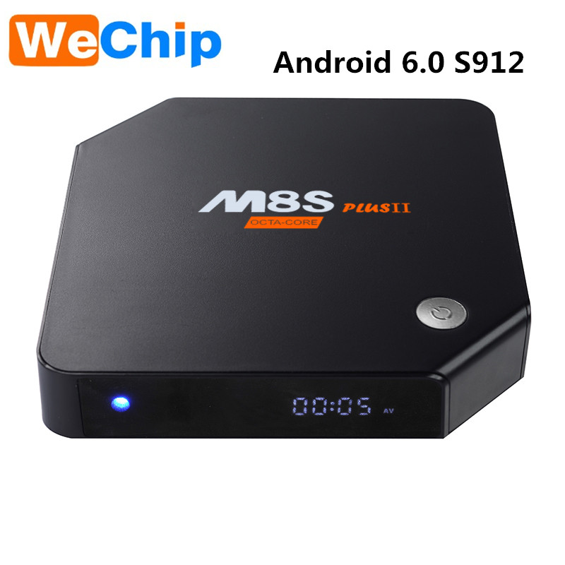 Golden Supplier m8s plus ii S912 2G 32G android 6.0 Octa core media player android tv box
