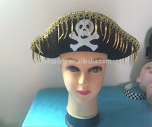 2017 Wholesale Good Quality Decoration Party Pirates Hat With Tassel