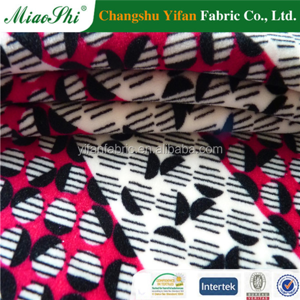 latest product of China polyester soft velvet fabric for kids clothes