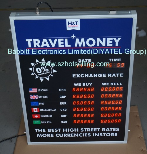 exchange foreign signage board