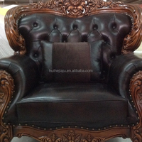 Custom Antique Leather Sofa Reproduction Living