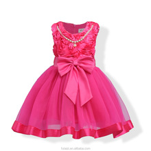 2017 designs pretty princess Aliexpress Indian Good Girl Children Formal Party Dresses For Kids