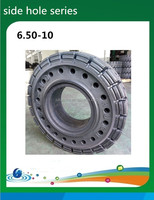 3.5T forklift tyre, side hole tire 6.50-10