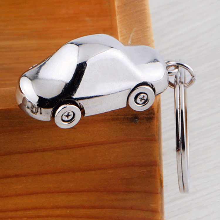 Shuanghua wholesale custom zinc alloy metal silver car key chain