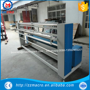 knitted fabric inspection and rolling machine with length measurement