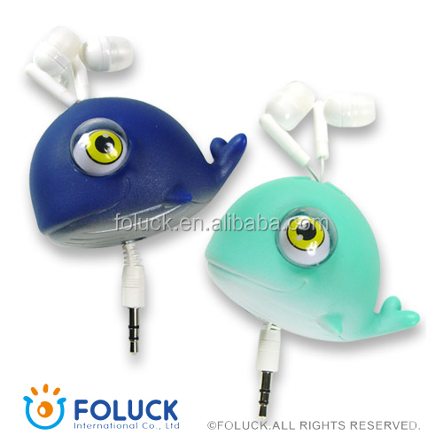 PVC Sea Animails Retractable Earphone Storer