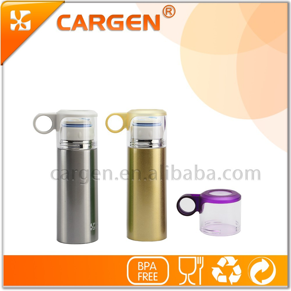 Vacuum 370ml thermos insulated stainless steel water bottle
