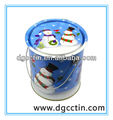 Tin pail with lid & handle