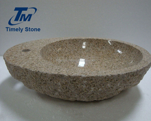 factory supply new design natural polished granite stone bathroom sink