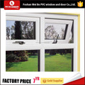 Foshan supplier outward open pvc upvc awning window top hung window