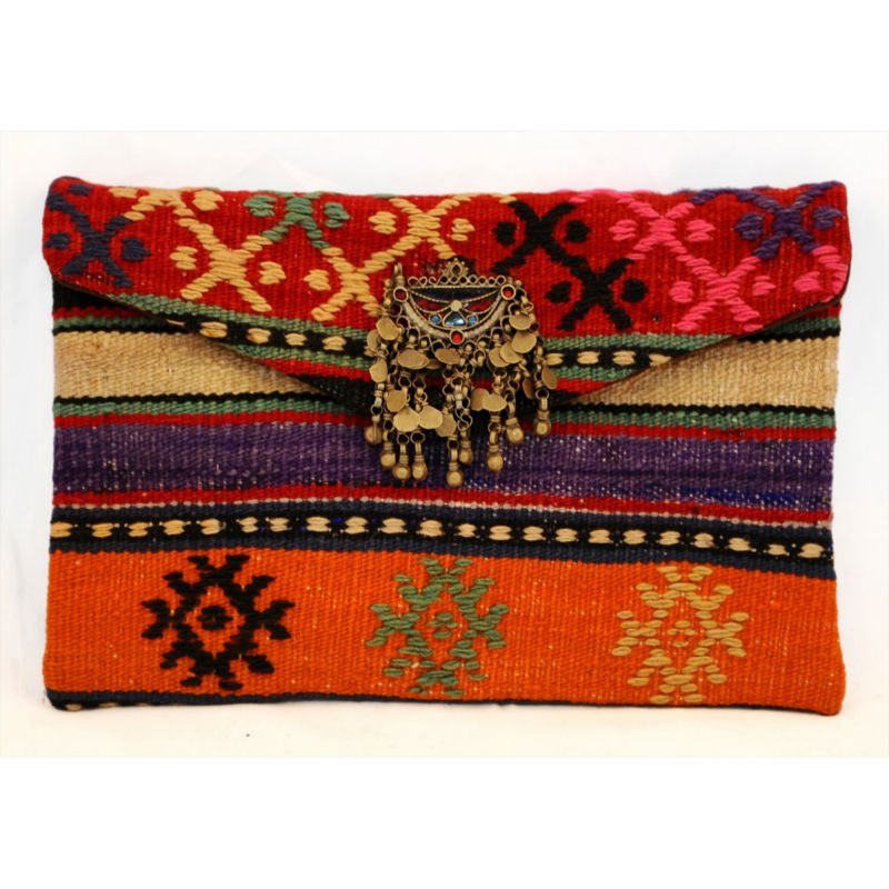 Woman Clutch Bag - Kilim Bag - Ladies HandBag