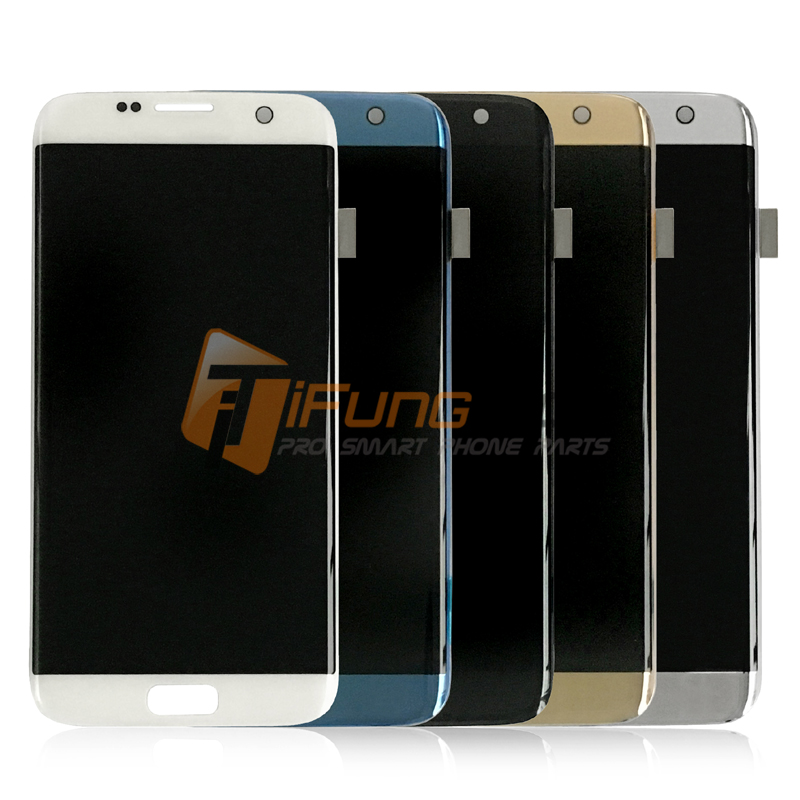 100% tested lcd screen for Samsung S7 edge G935 G935F G935A G935FD G935P LCD display touch Digitizer black white gold color