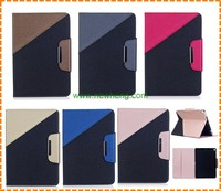 Factory Contrast Color stand pu leather card holder case for iPad Mini 4