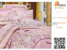 2013 floral rurality 100% cotton reactive printing beddings fabric