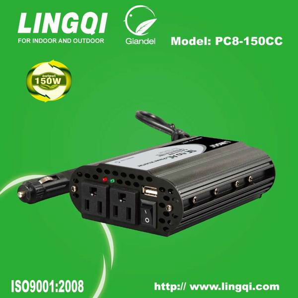 100w grid tie inverter for car 120vac 150W with USB 2.1A charger