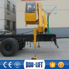 Xuzhou Boblift 4 tons truck mounted small spider lift cranes for sale SQ4ZA2