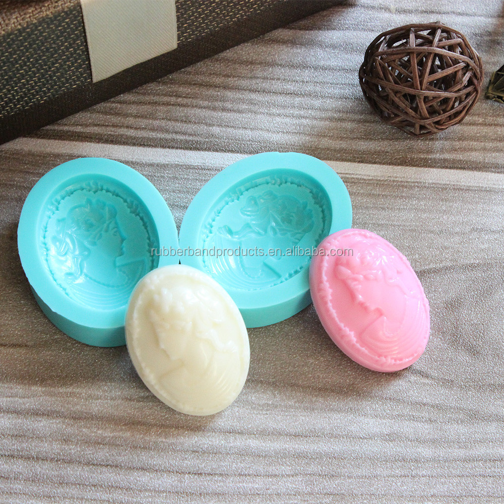 Beautiful lady Face Fondant Silicone Mold, Decoration Cake Mold , Silicone Waffle Cake Mould