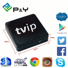 2017 Best price of TVIP S805 1G8G Linux android dual OS google iptv box OEM Quad core TV