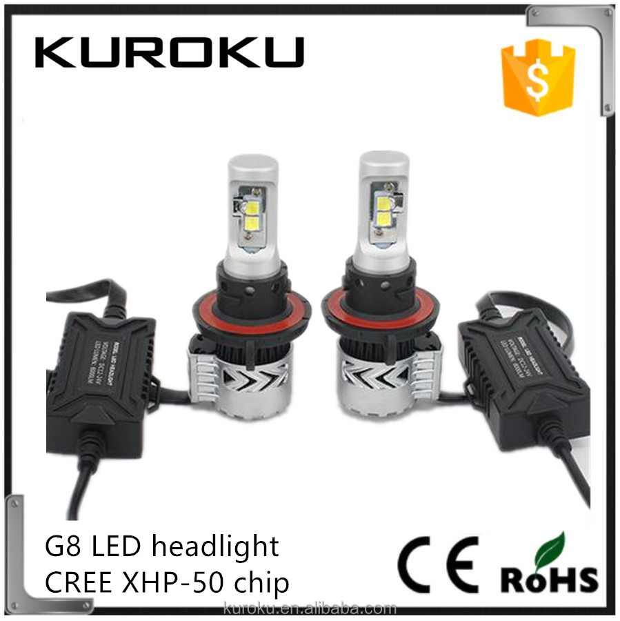 supper brighteness auto parts g8 hilux headlights 36w 6000lm toyota corolla lamp head