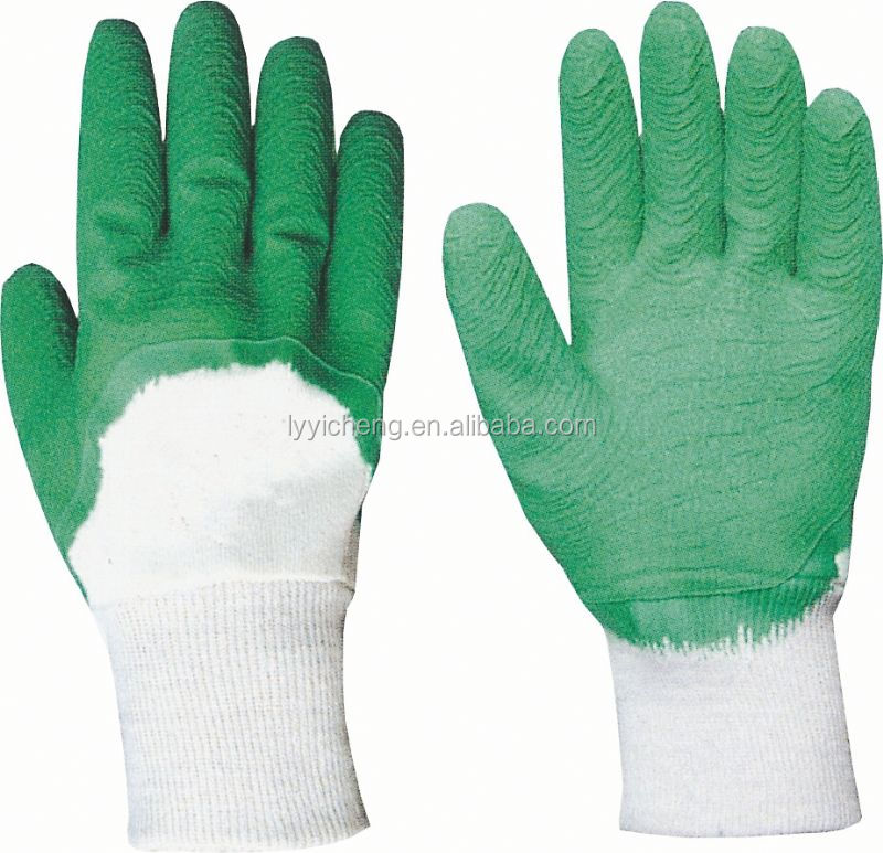 latex coated work glove/latex coated safety working glove