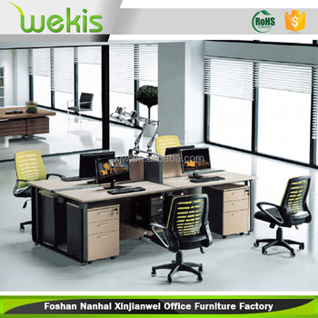high quality 4 person office desk used modern office