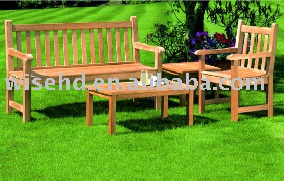 (WG-4S-5075) solid wood garden bench furniture