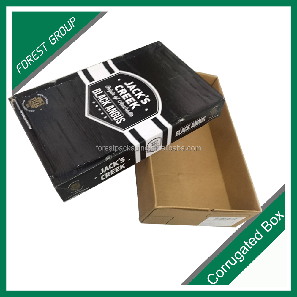 GREAT HEAVY CARRYING CARTON FROZEN FOOD BOX PACKAGING FOR BEEF MEAT
