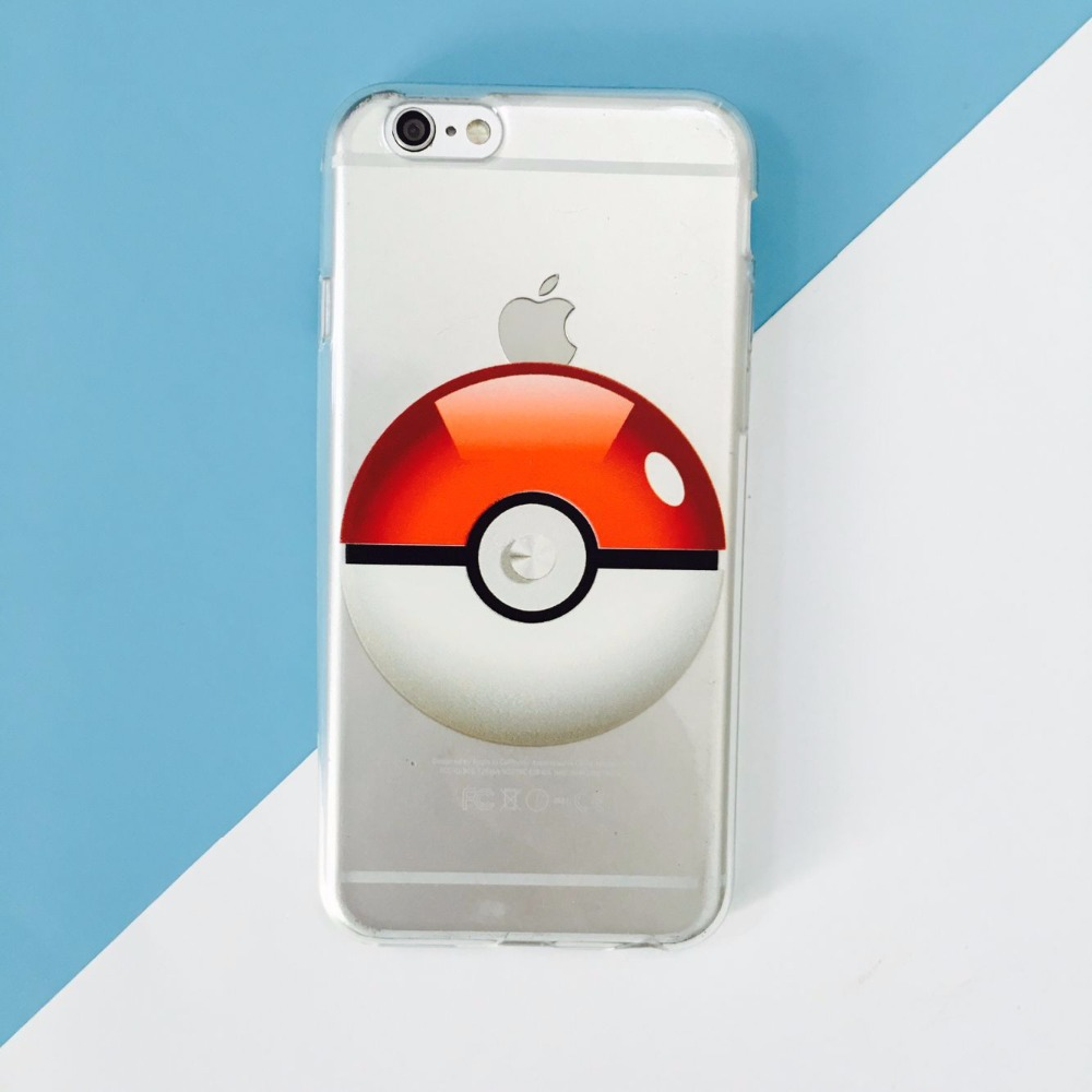 transparent tpu pokeball phone case.pokemon case for iphone6s pokeball case supplier