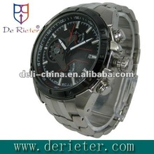 Stainless steel chain wrist watch