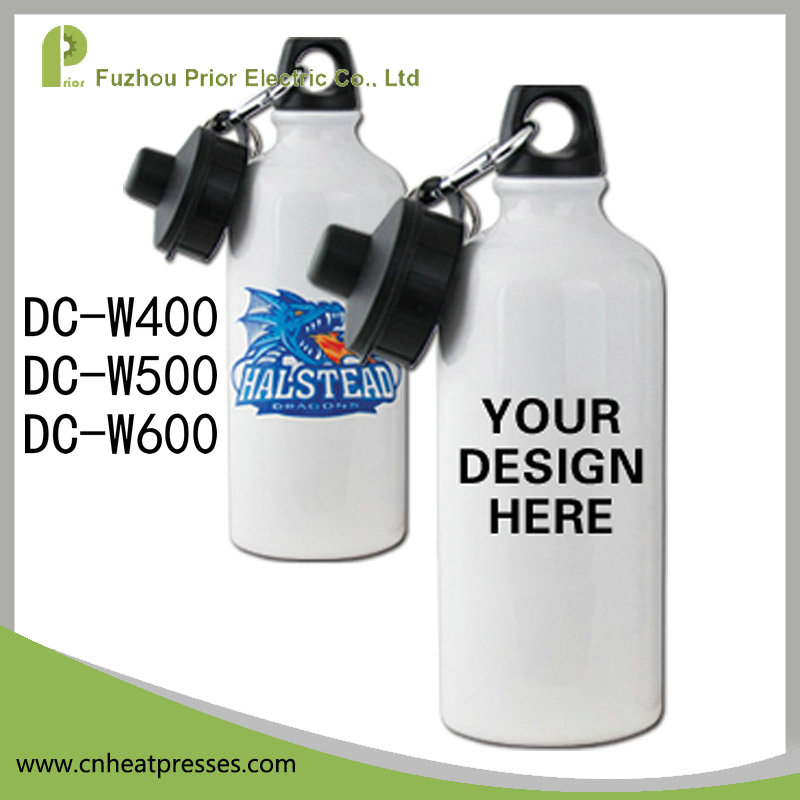 600ml White Promotional Custom Logo Aluminum Sports Water Bottle with Cover